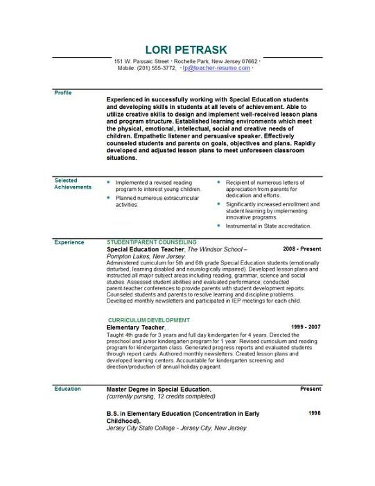 pin by lindsey schor on teacher resume examples education teaching sample format the Resume Sample Education Resume Format
