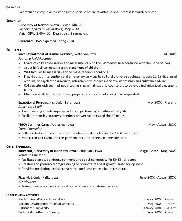 pin di best resume entry level social work naviance financial skills group home manager Resume Entry Level Social Work Resume