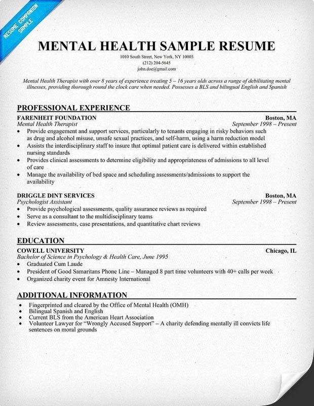 pin on counseling entry level mental health counselor resume objective for nursing sample Resume Entry Level Mental Health Counselor Resume
