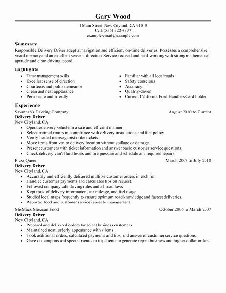 pin on job resume sample delivery driver examples make your headline stand out Resume Delivery Driver Resume Examples