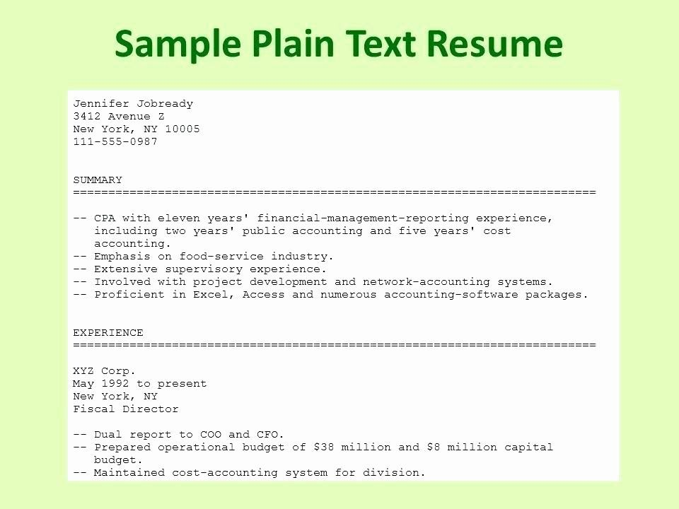 plain text resume example elegant essentialmom good examples template basic best project Resume Plain Text Resume Template
