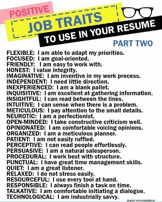 positive job traits to use in your resume interview preparation answers tips personal for Resume Personal Traits For Resume Example