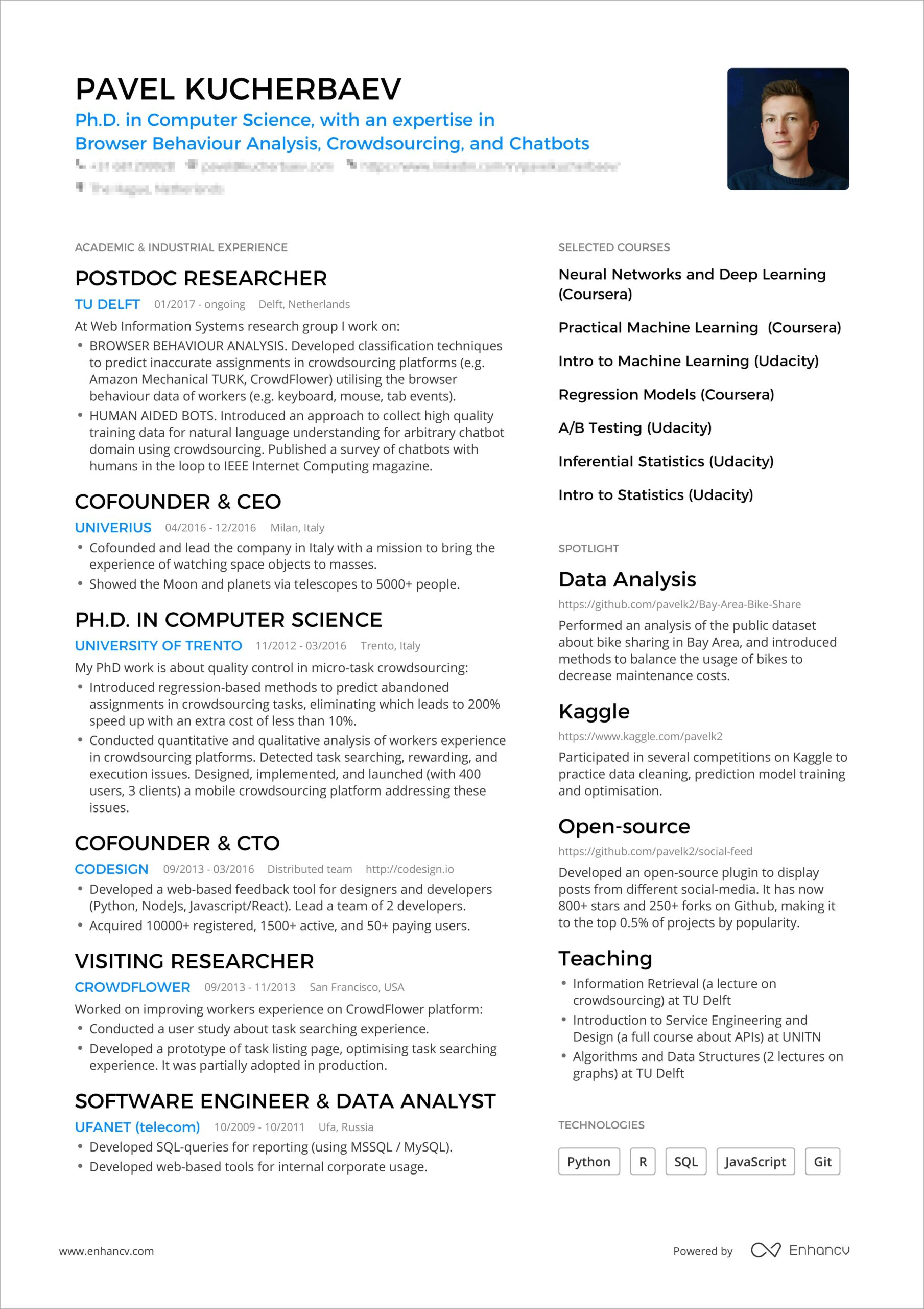 powerful one resume examples you can use now pavel booking bordered min public health Resume One Page Resume Examples