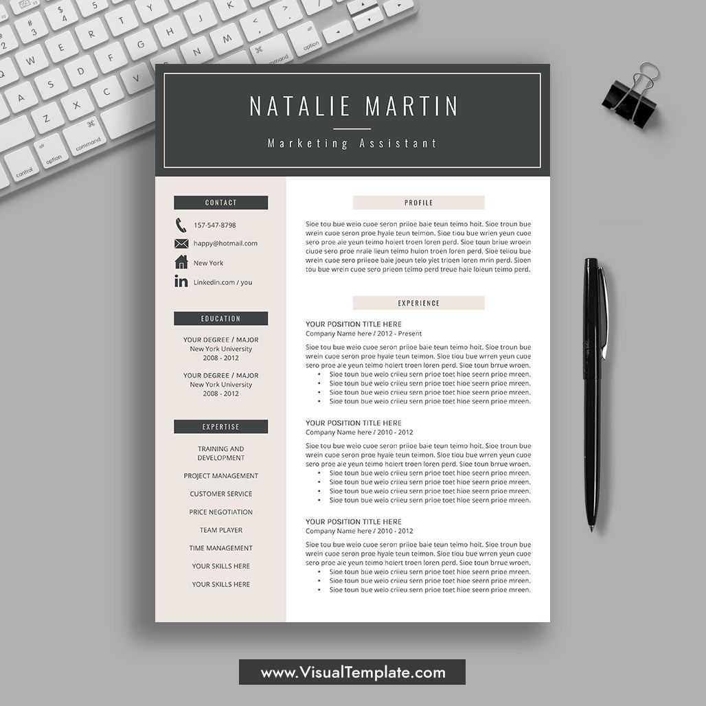 pre formatted resume template with icons fonts and editing guide unlimited digital Resume The Best Resume Format 2020