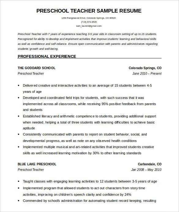 preschool teacher resume template free word examples jobsdb business operations manager Resume Preschool Teacher Resume Template Free
