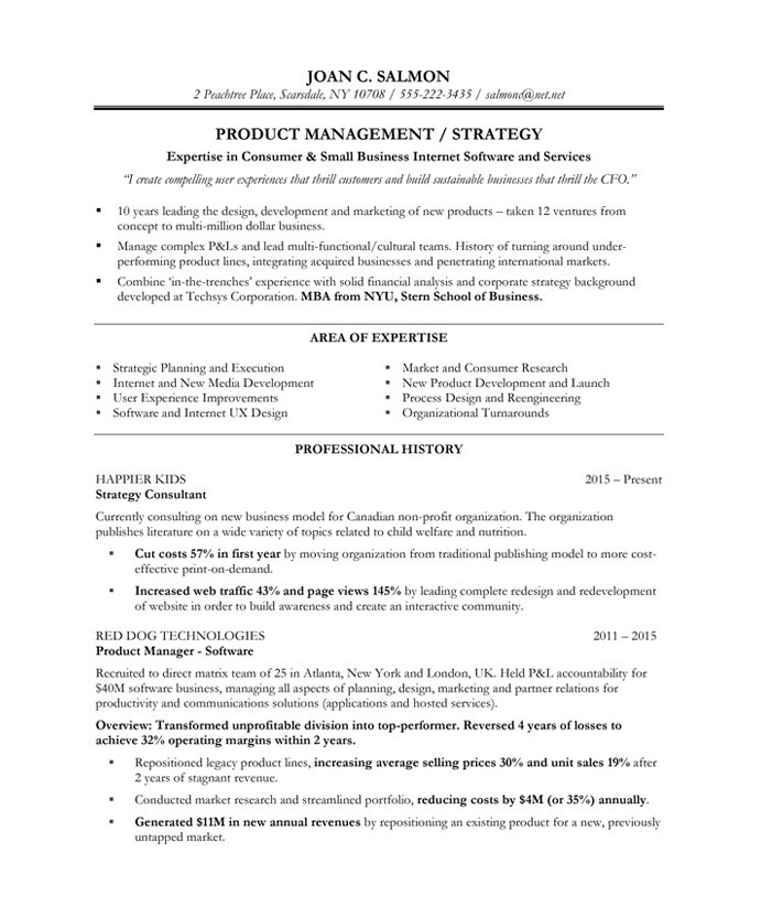 product manager free resume samples blue sky resumes writer joan salmoin after Resume Product Manager Resume Writer