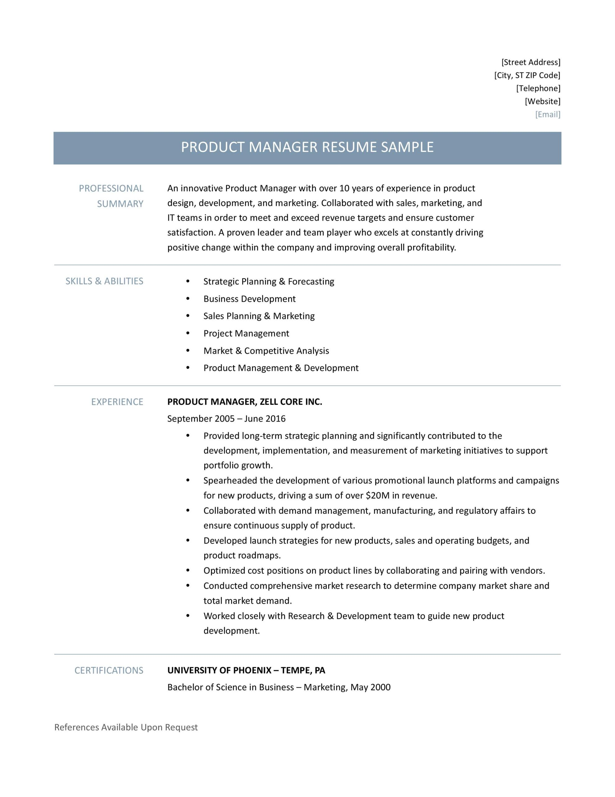 product manager resume samples template and job description by builders medium writer Resume Product Manager Resume Writer