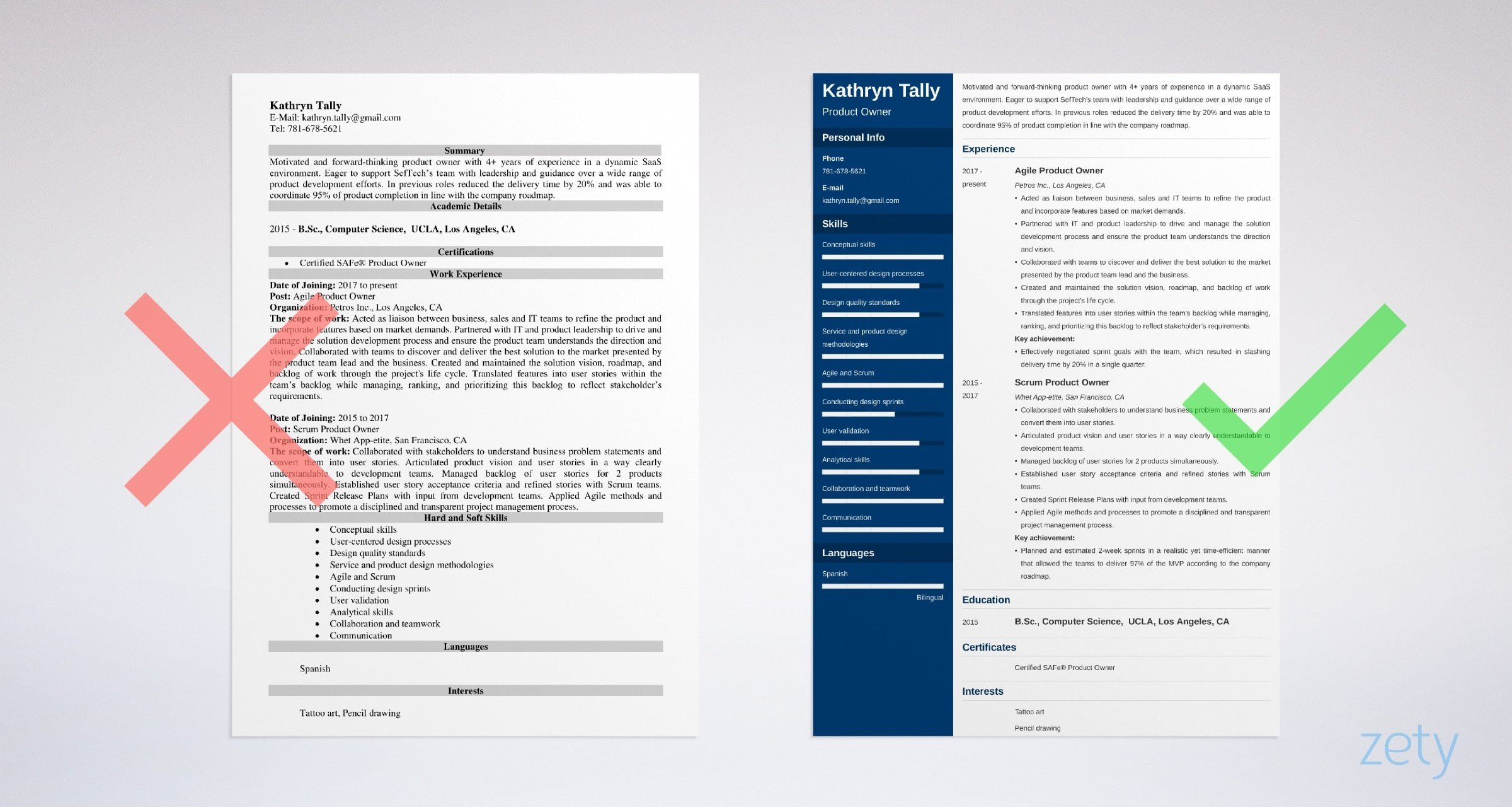 product owner resume examples skills summaries tips agile manager example entry level Resume Agile Product Manager Resume