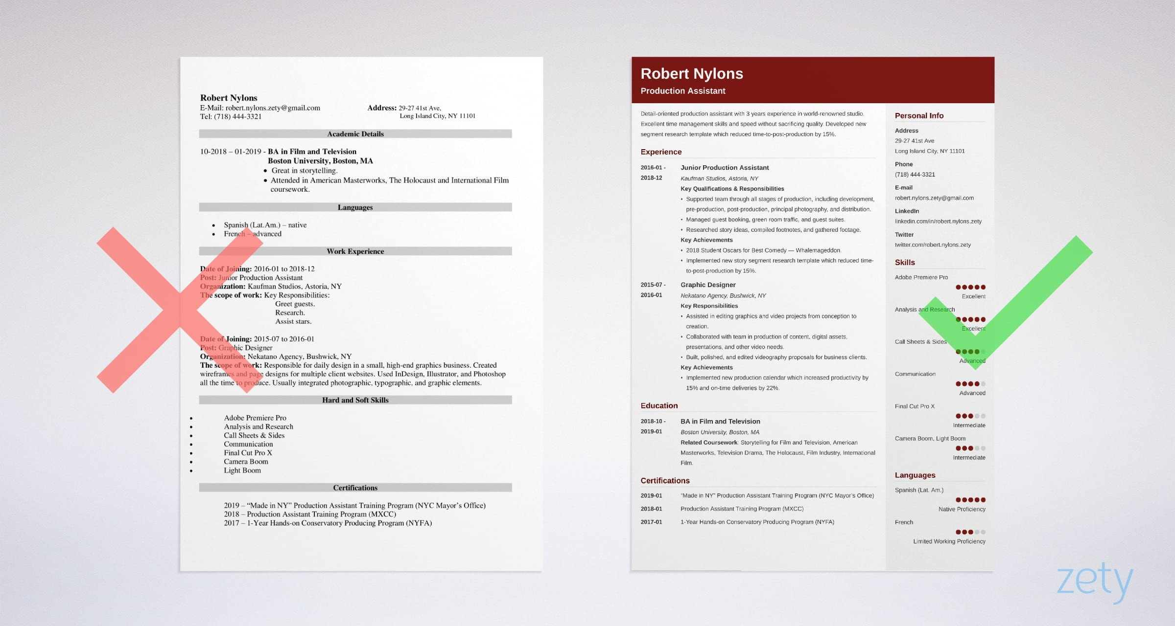 production assistant resume examples skills for film or tv template example bank Resume Production Assistant Resume Template
