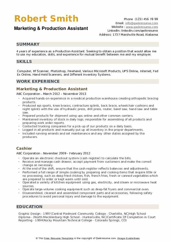 production assistant resume samples qwikresume template pdf team captain cheer coach bank Resume Production Assistant Resume Template