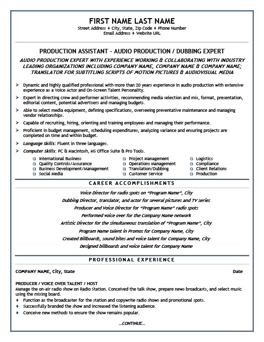 production assistant resume template premium samples example objective for project Resume Production Assistant Resume Template