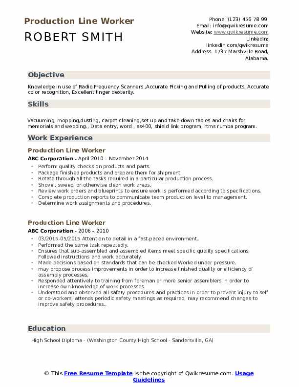 production line worker resume samples qwikresume assembly pdf technical examples software Resume Assembly Line Worker Resume