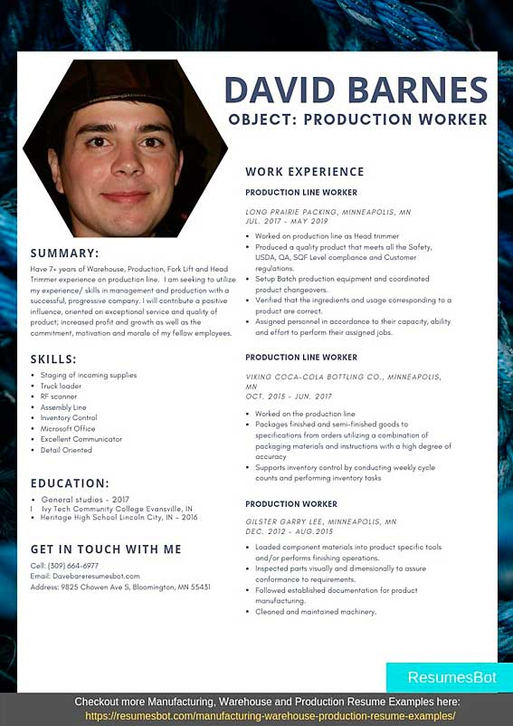 production worker resume samples templates pdf resumes bot assembly line sample nail Resume Assembly Line Worker Resume