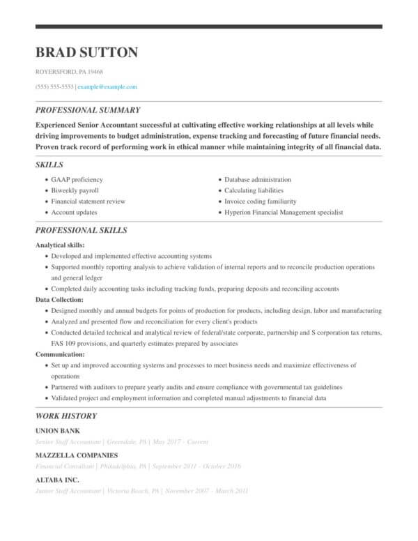 professional accounting resume examples livecareer senior staff accountant sample simple Resume Senior Staff Accountant Resume Sample