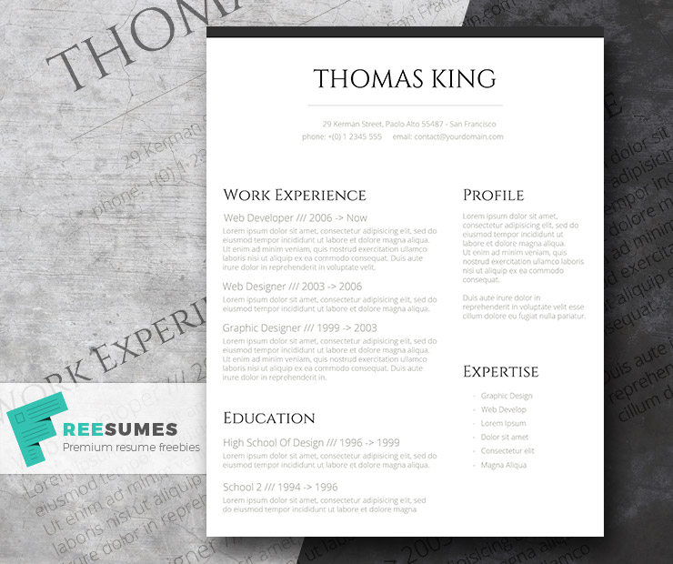 professional clean basic but stylish resume layout freesumes template classic cv free Resume Clean Professional Resume Template
