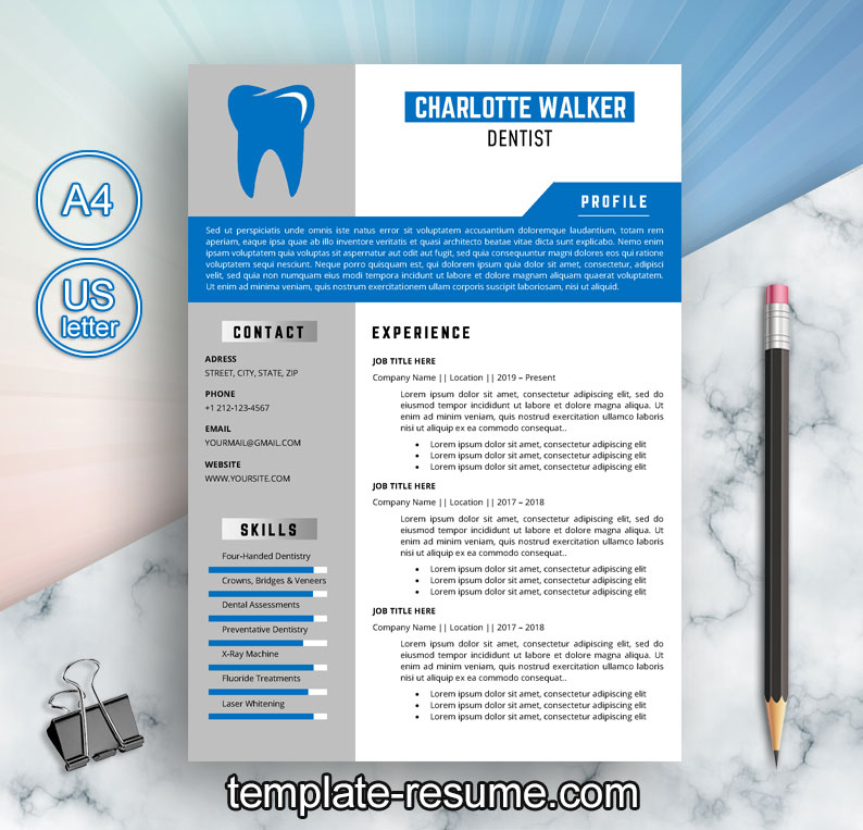 professional dental technician resume template sample in word format free templates Resume Free Dental Resume Templates