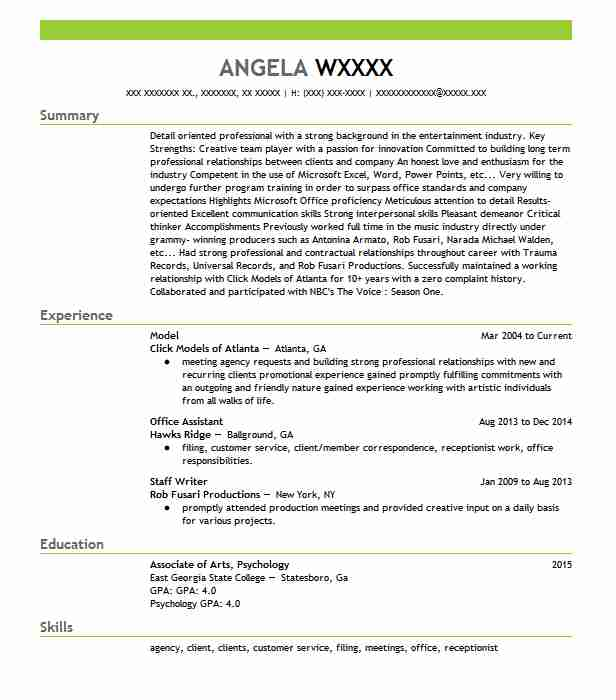 professional resume examples livecareer fashion model template salesforce work related Resume Fashion Model Resume Template