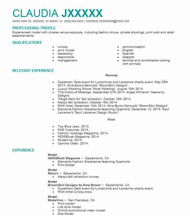 professional resume examples livecareer fashion model template senior level sample Resume Fashion Model Resume Template