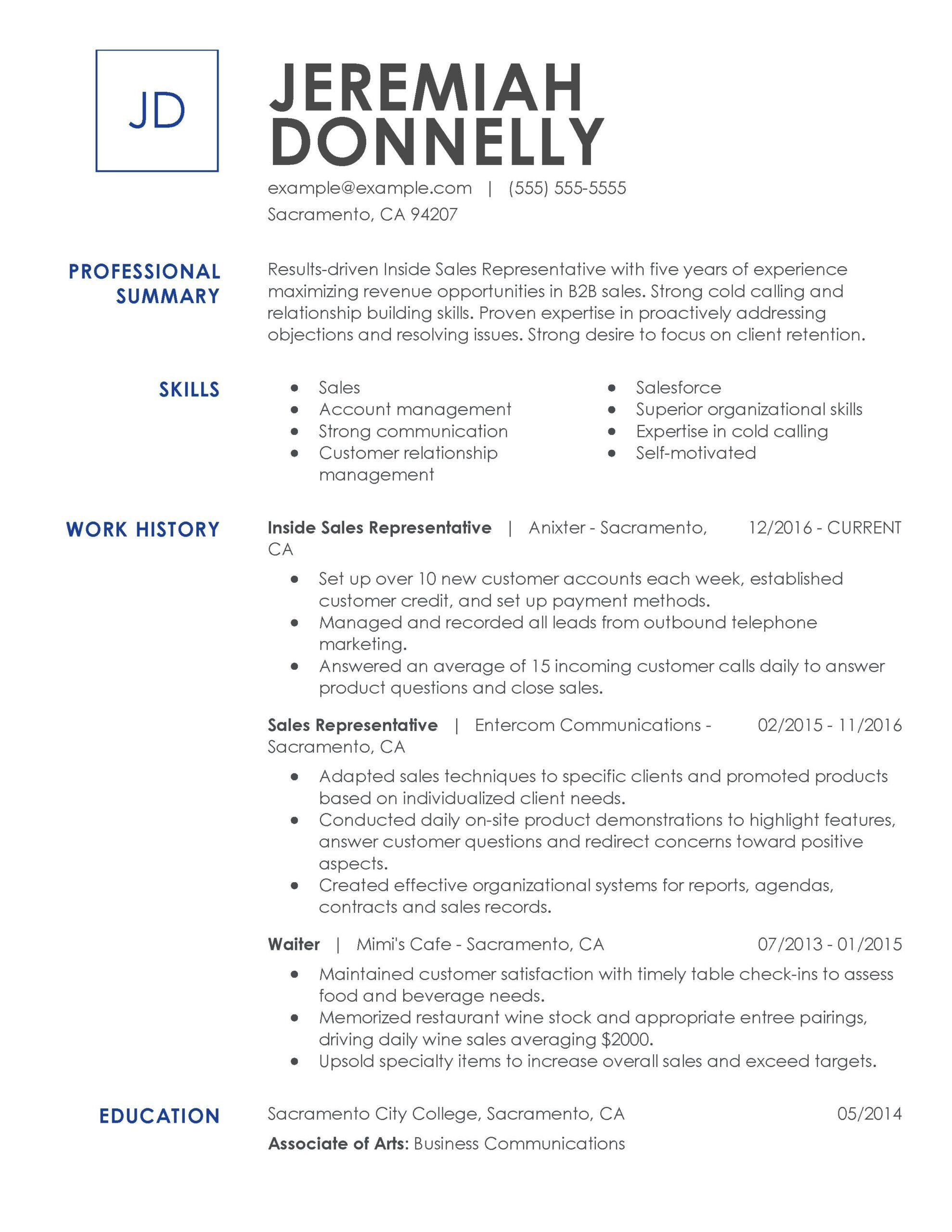 professional resume examples myperfectresume builder for jobs inside representative Resume Resume Builder For Sales Jobs