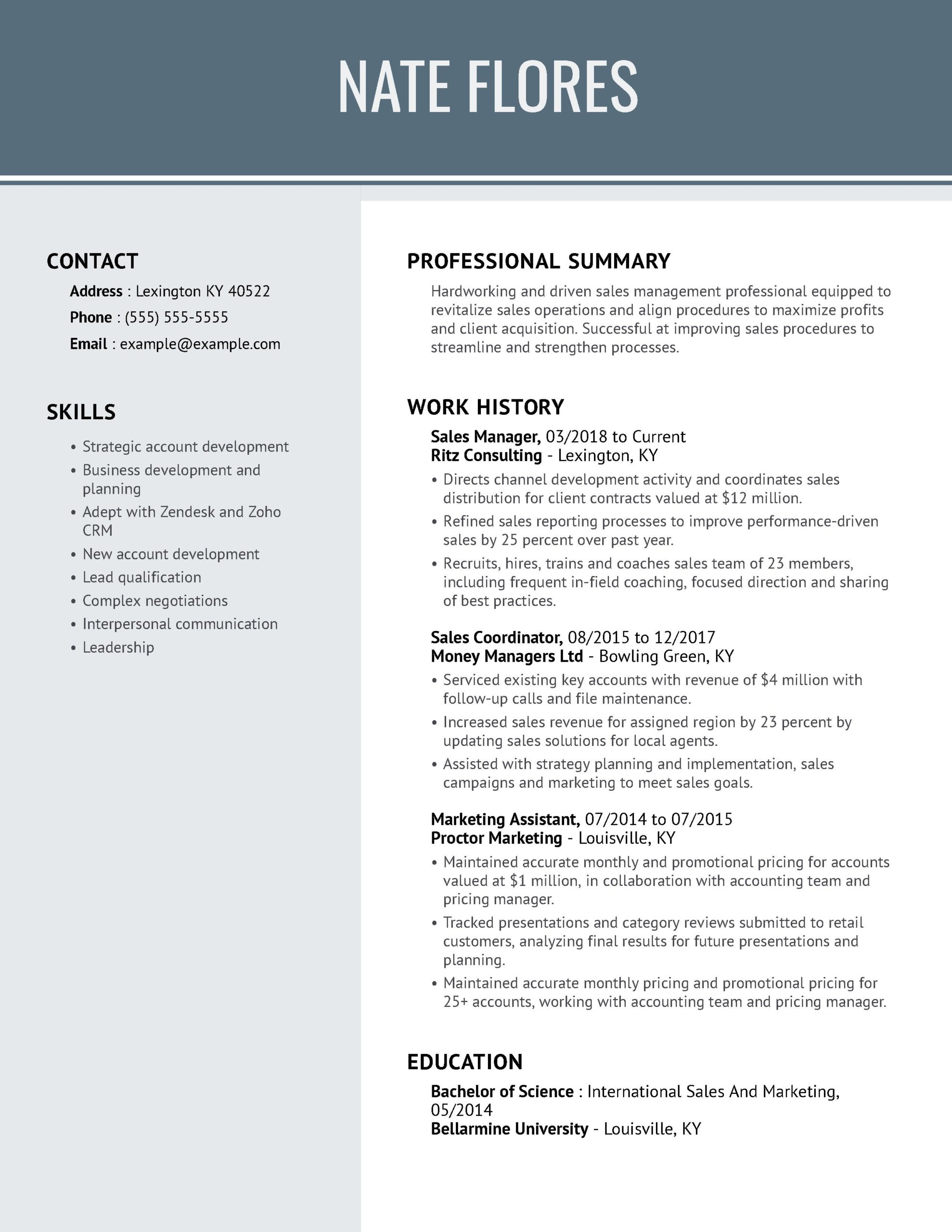 professional resume examples myperfectresume builder for jobs manager cool combod scaled Resume Resume Builder For Sales Jobs