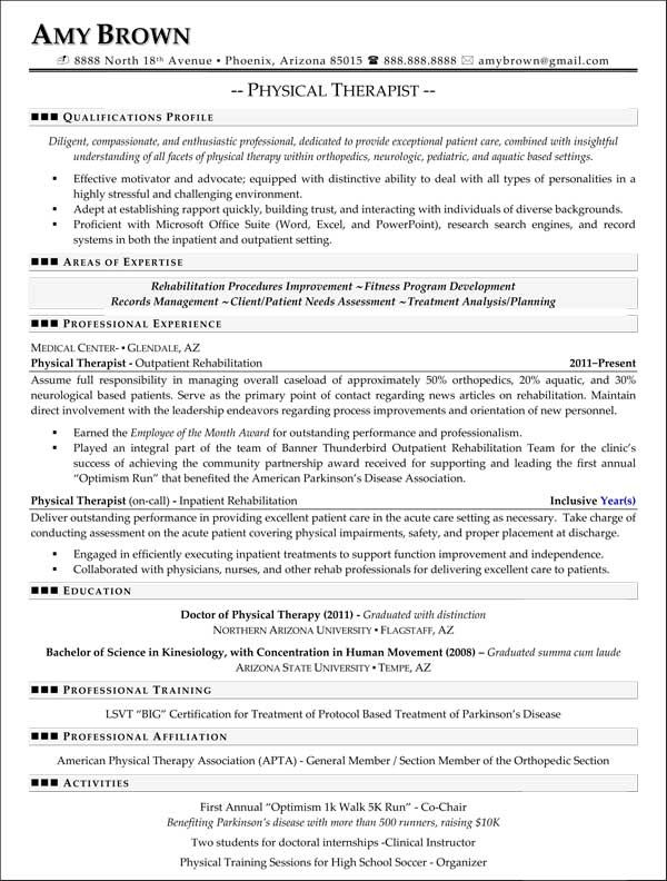 professional resume samples best templates medical examples good physical therapy student Resume Physical Therapy Student Resume
