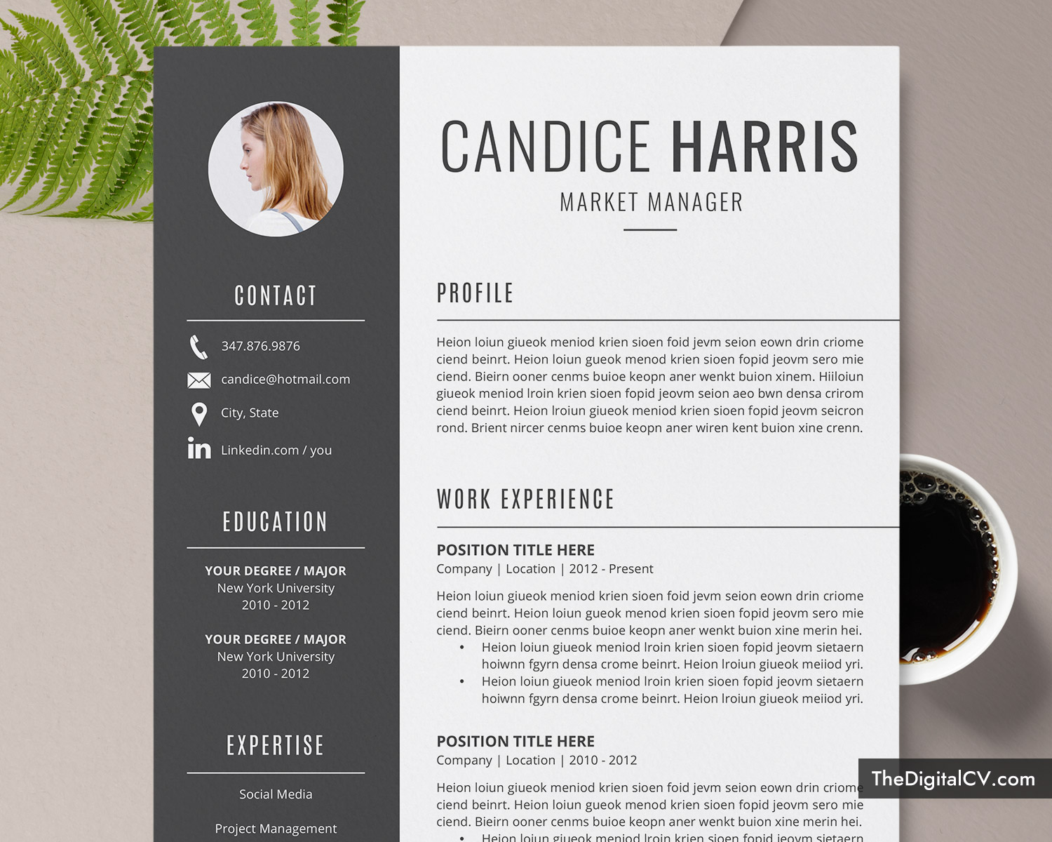 professional resume template for ms word clean cv design cover letter modern format Resume Resume Templates Office Mac