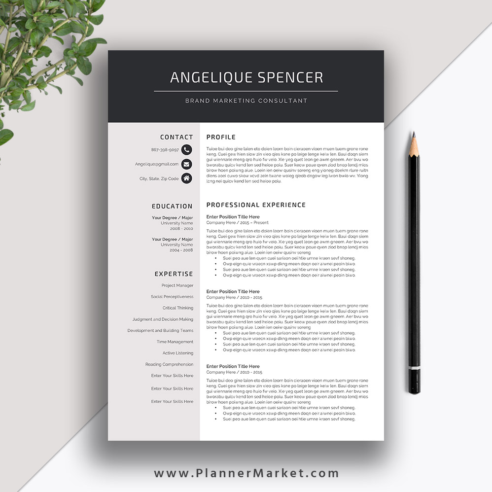 professional resume template for ms word cv creative modern design cover letter the Resume Professional Resume Design Templates