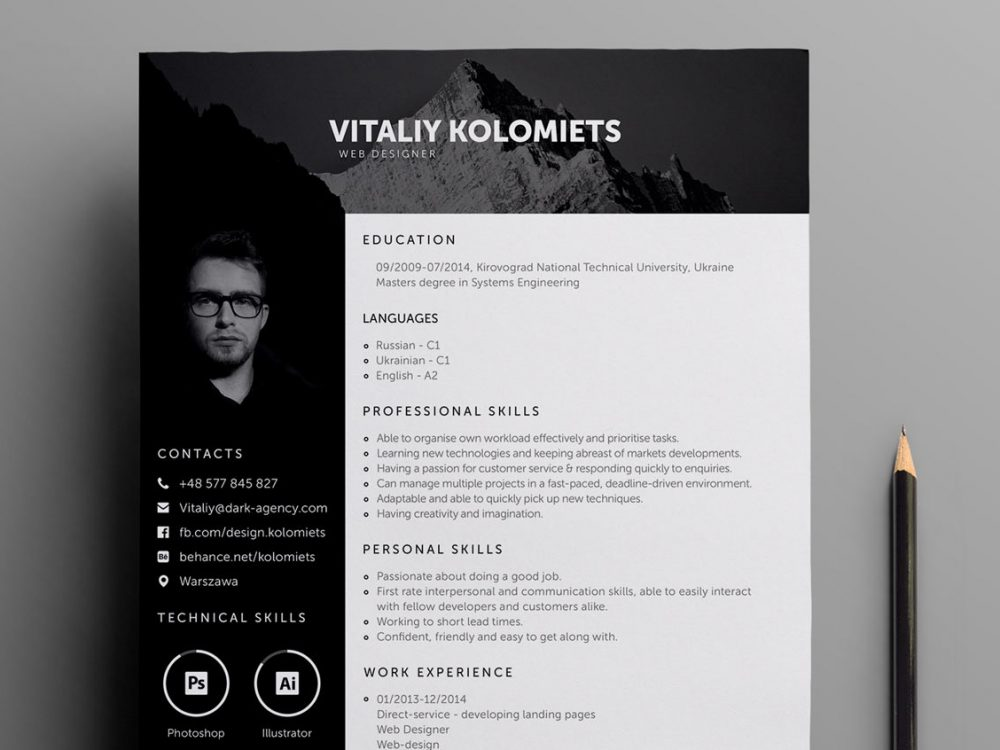 professional resume template for web designers resumekraft designer webdesigners 1000x750 Resume Web Designer Resume Template Download