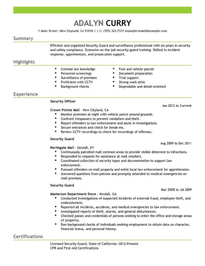professional security guard resume examples safety livecareer officer job duties make Resume Security Officer Resume Examples
