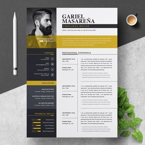 professional word resume cv template design templates education portion of student Resume Professional Resume Design Templates