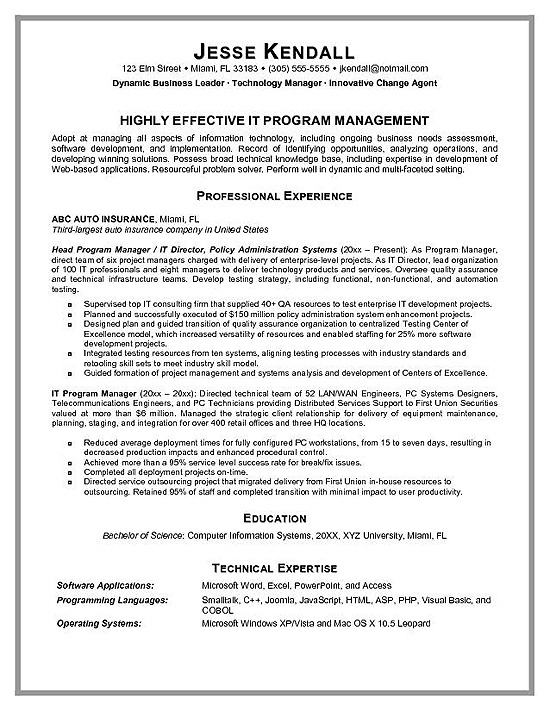 program manager resume example project writing service rsmio difference between portfolio Resume Project Manager Resume Writing Service