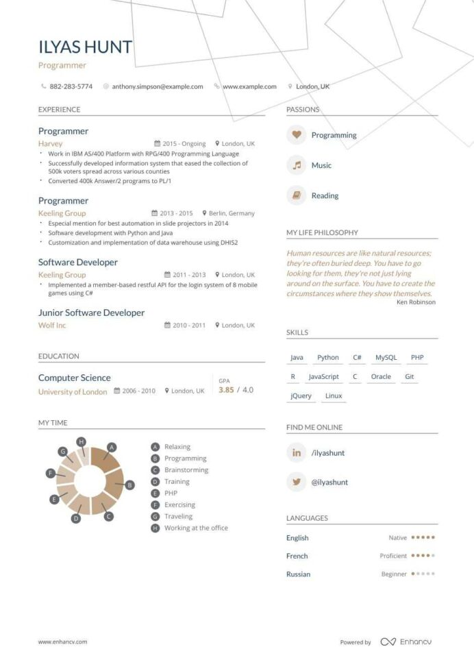 programmer resume examples do and don ts for enhancv computer template special education Resume Computer Programmer Resume Template