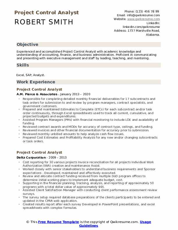 project control analyst resume samples qwikresume sample pdf free search sites divi theme Resume Project Control Analyst Resume Sample