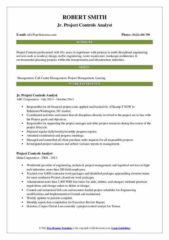 project controls analyst resume samples qwikresume control sample pdf cahier donna Resume Project Control Analyst Resume Sample