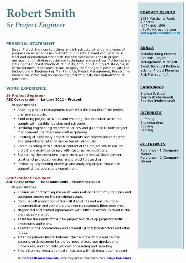 project engineer resume samples qwikresume construction objective pdf special education Resume Construction Project Engineer Resume Objective
