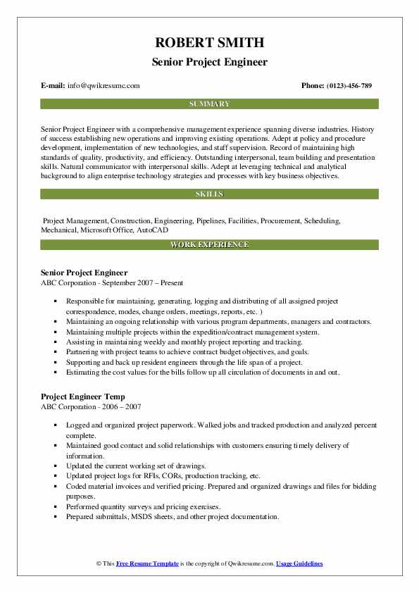 project engineer resume samples qwikresume construction objective pdf sports an example Resume Construction Project Engineer Resume Objective