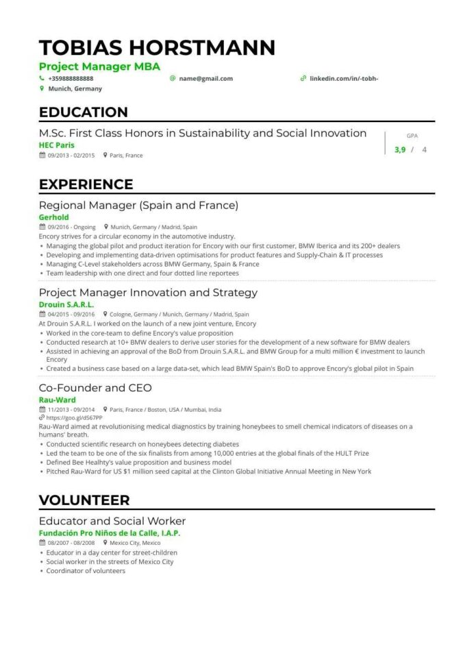 project manager resume examples guide expert tips for best template generated resumes Resume Best Resume Template For Project Manager