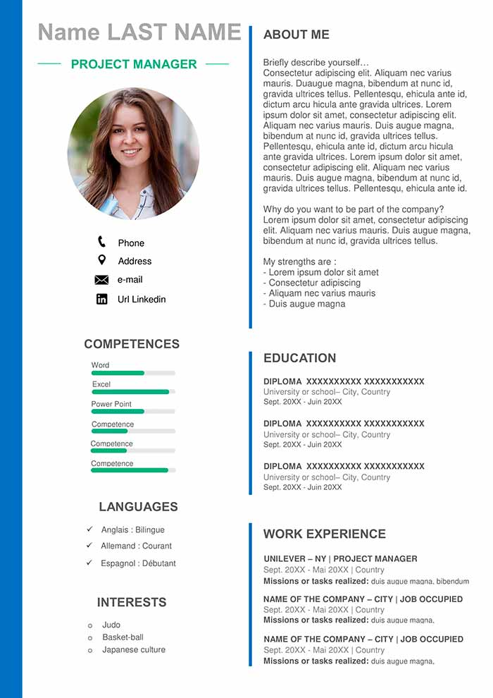 project manager resume template for word free cv floor installer sample nail technician Resume Project Manager Resume Template