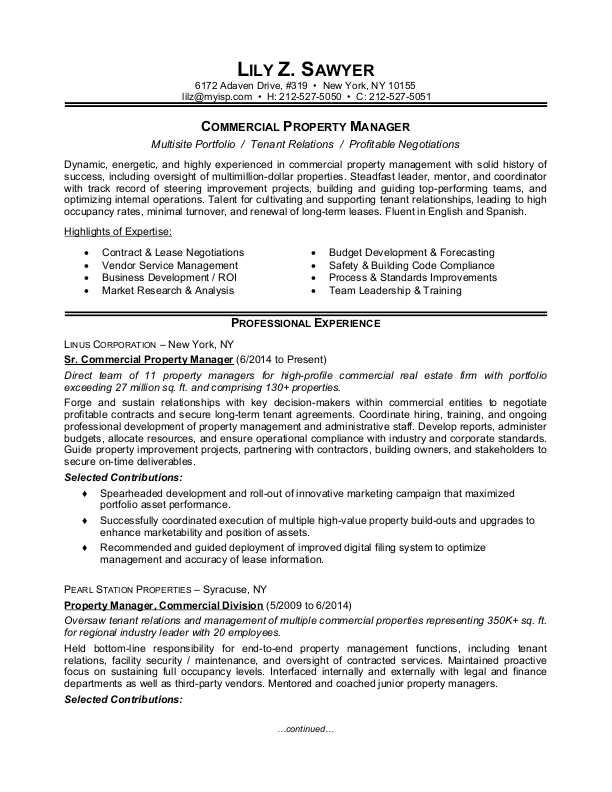 property manager resume sample monster management experience commercial civil engineer Resume Management Experience Resume