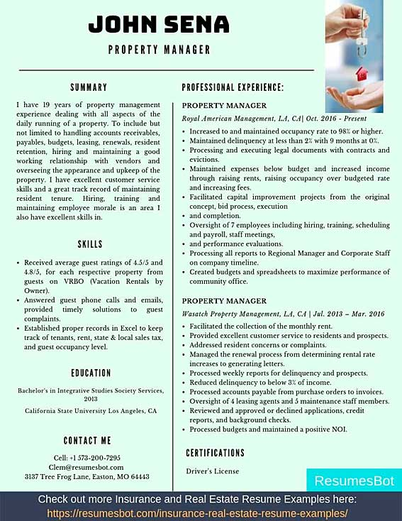 property manager resume samples templates pdf resumes bot assistant example summary vs Resume Assistant Property Manager Resume