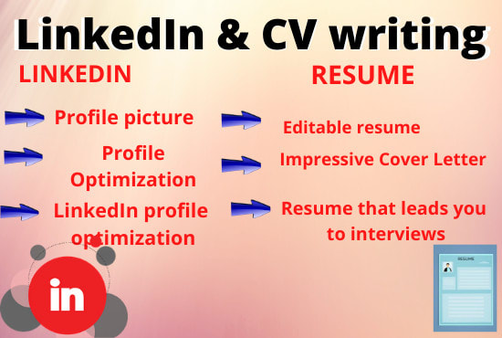 provide cv writing and linkedin business creation by aroojcheema profile resume services Resume Linkedin Profile & Resume Writing Services
