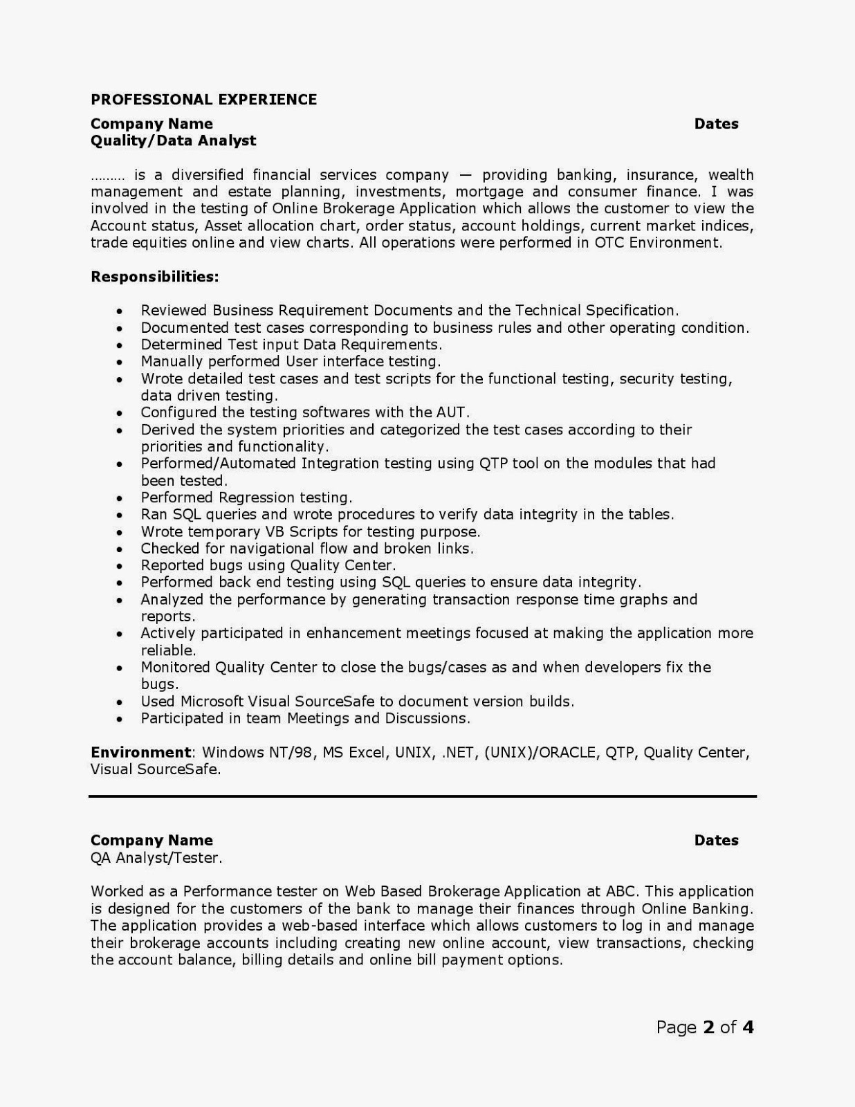 qa web testing resume manual format sample completely free templates experienced attorney Resume Manual Testing Resume Format