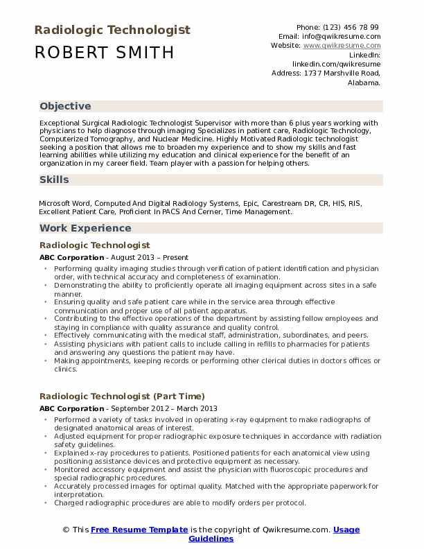 radiologic technologist resume samples qwikresume sample for pdf email with attached and Resume Sample Resume For Radiologic Technologist