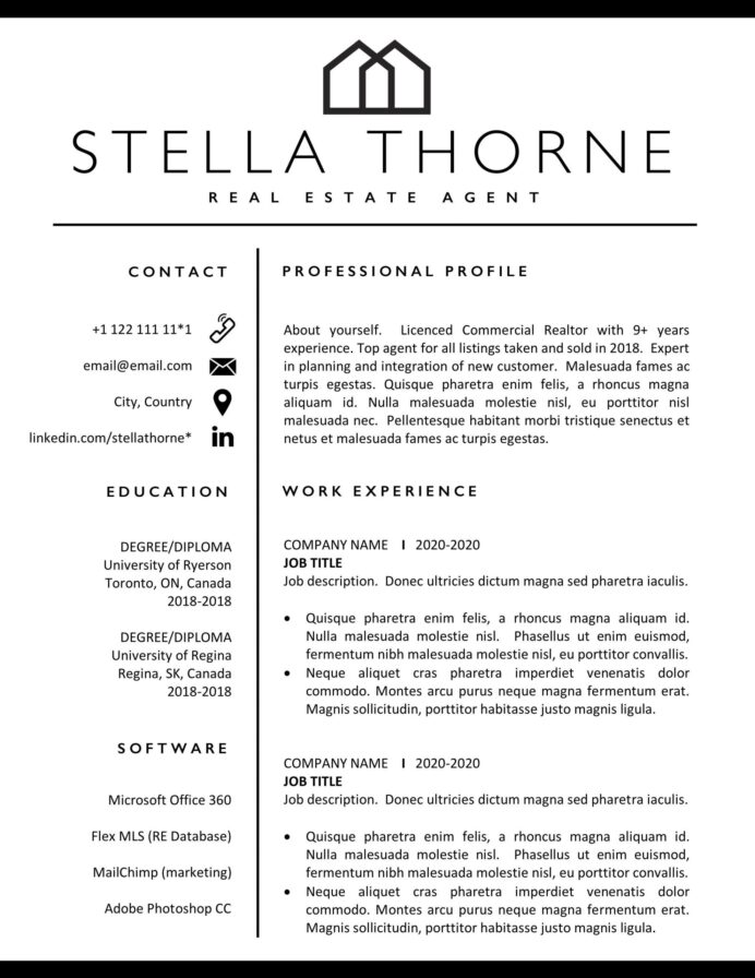 realtor resume free templates estate format of agent template scaled works well with Resume Real Estate Resume Format