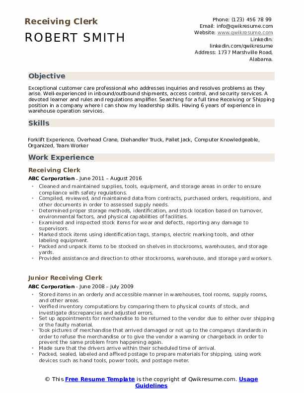 receiving clerk resume samples qwikresume shipping and pdf experienced executive Resume Shipping And Receiving Clerk Resume
