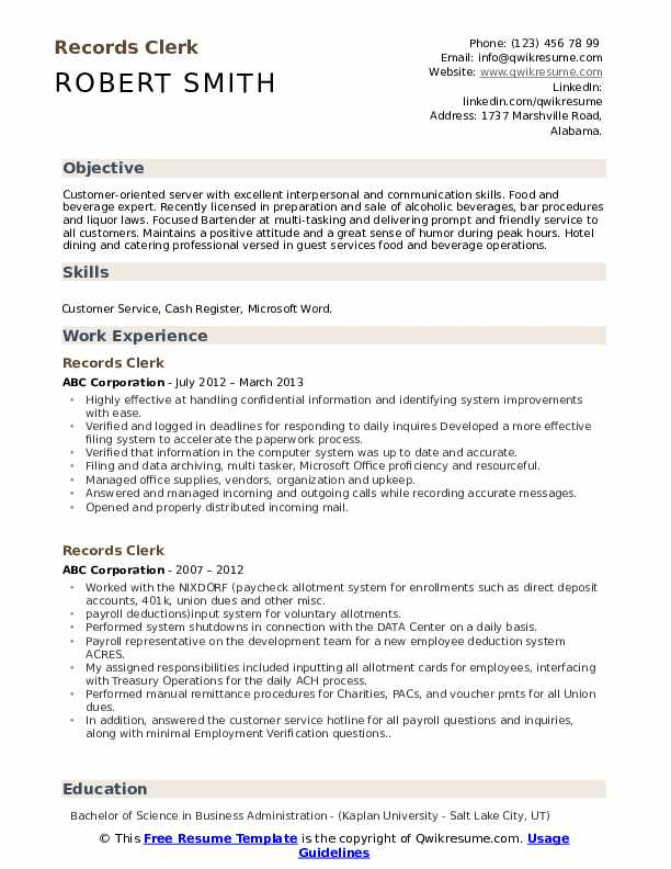 records clerk resume samples qwikresume management sample pdf examples for teenager first Resume Records Management Clerk Resume Sample