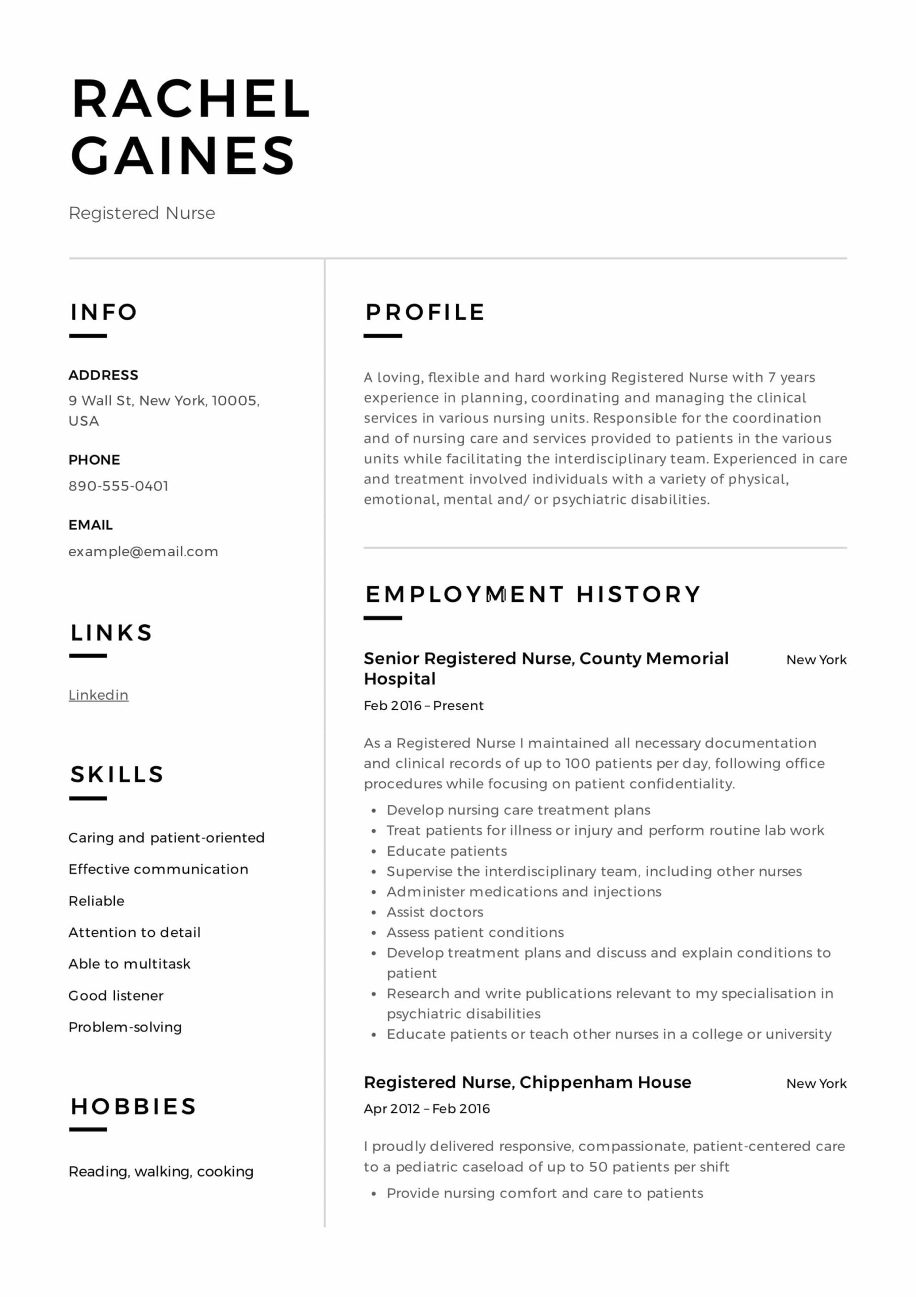registered nurse resume sample writing guide samples pdf nursing example professional Resume Writing A Nursing Resume