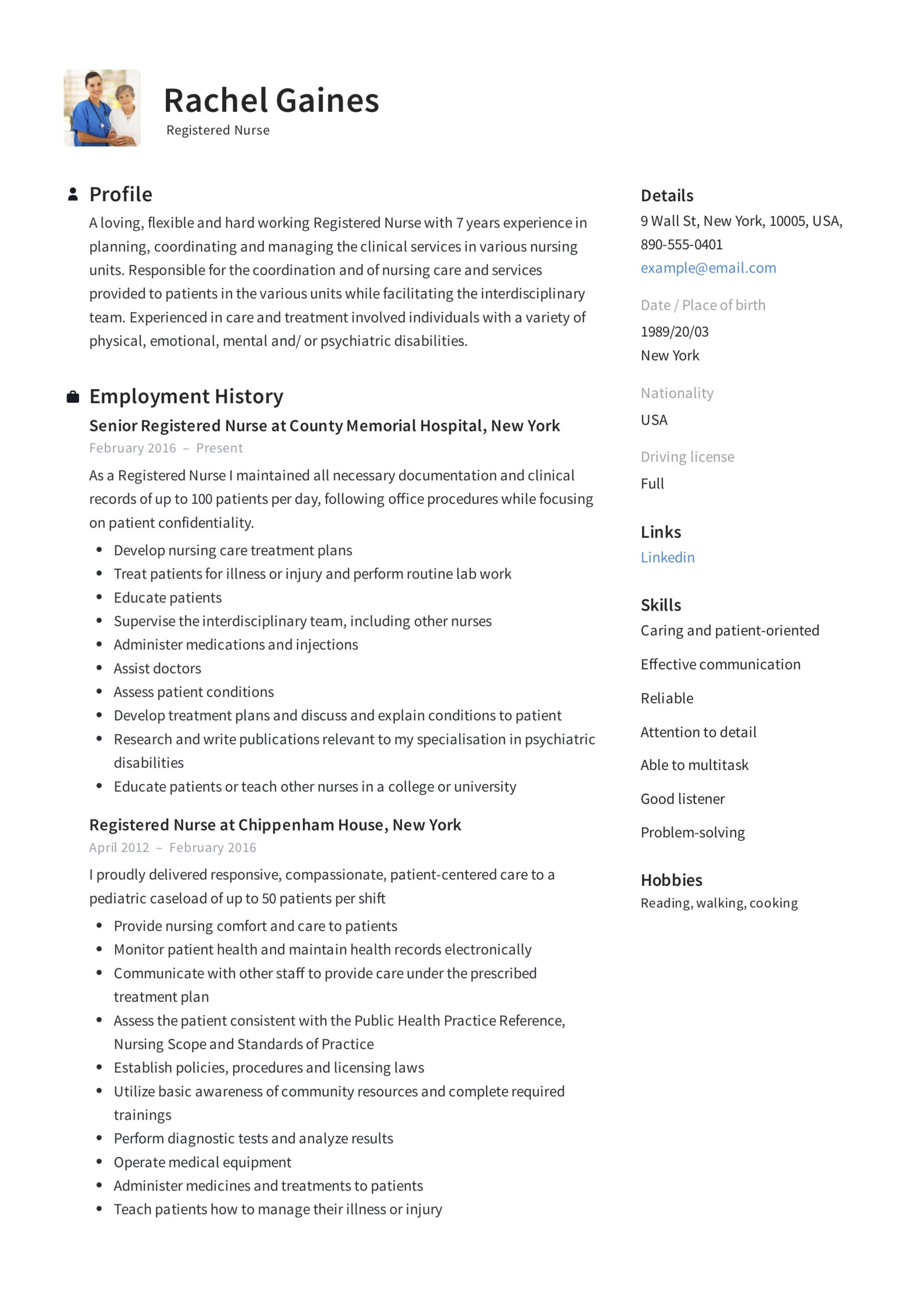 registered nurse resume sample writing guide samples pdf year experience example the dude Resume 1 Year Experience Nurse Resume