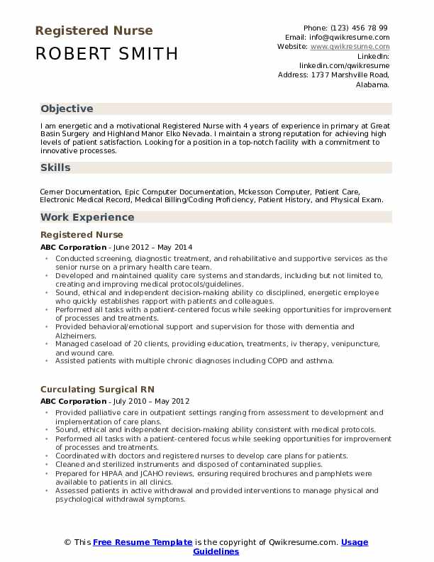 registered nurse resume samples qwikresume writing nursing pdf instrumentation format Resume Writing A Nursing Resume