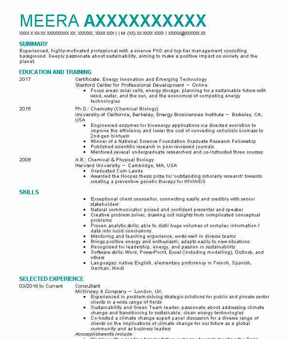 renewable energy cv examples jobs cvs livecareer phd resume for consulting community Resume Phd Resume For Consulting